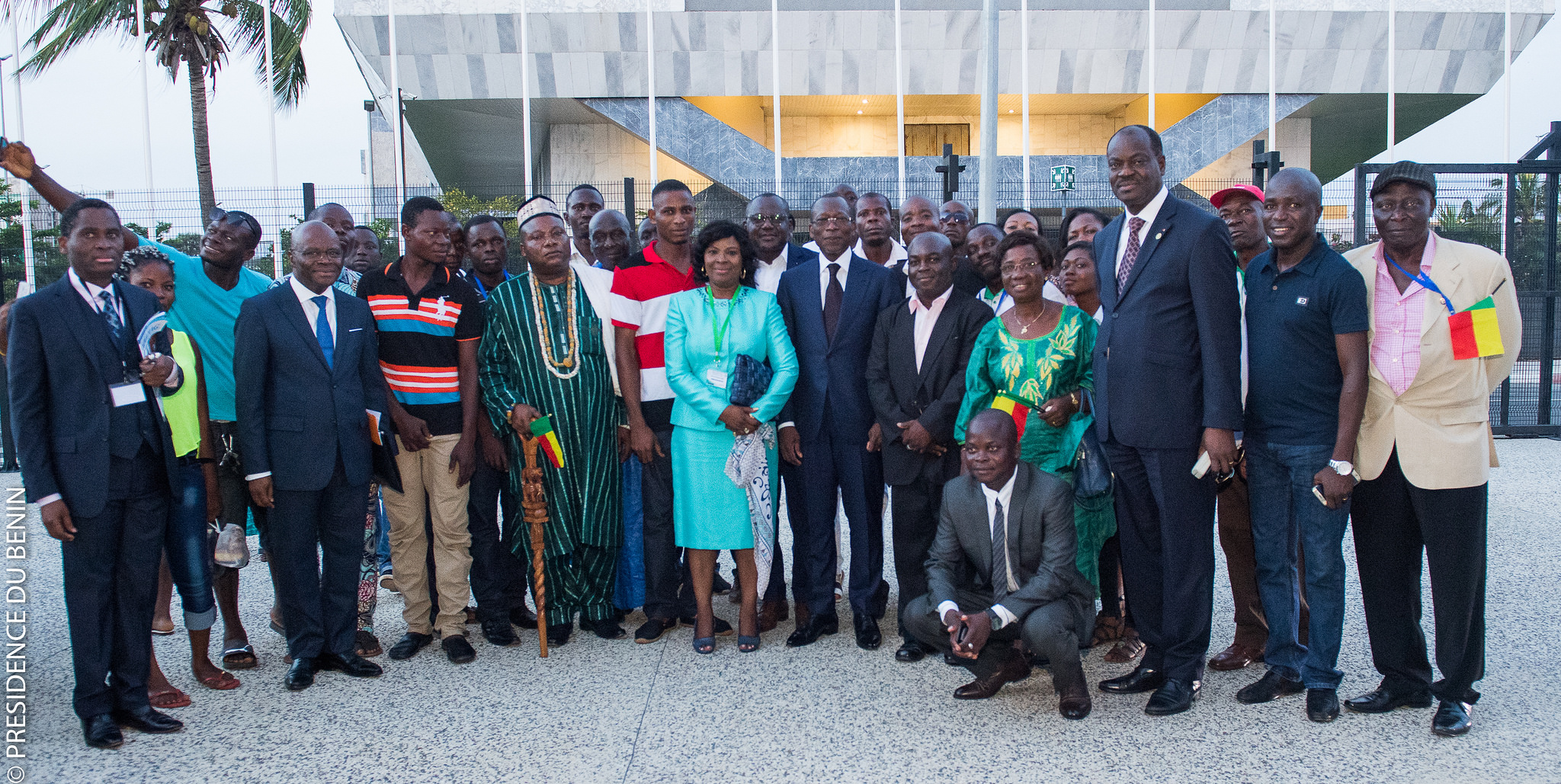 14 avril 2018. Lomé au Togo. Conférence des chefs d'Etat de la CEDEAO. Le président Patrice Talon et ses homologues de la sous-région.